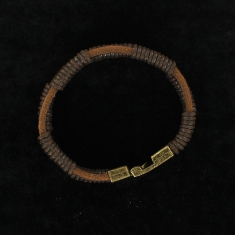 men;s leather western bracelet