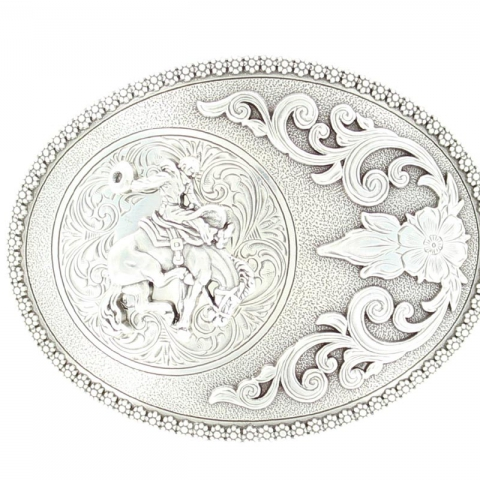 Oval Bucking Bronco Buckle