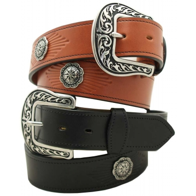 Leather Concho Belt USA