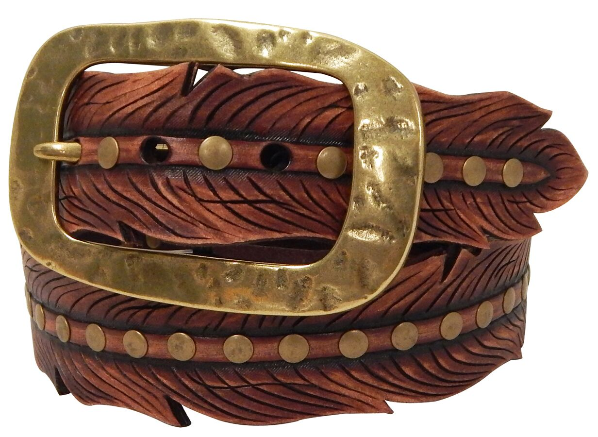 Ladies Western Feather Belt