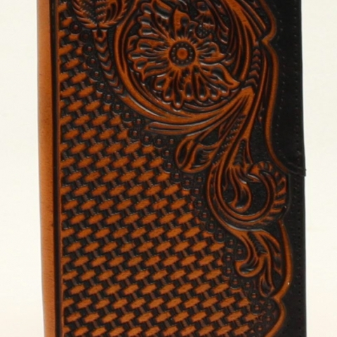 Floral Embossed Mens Wallet