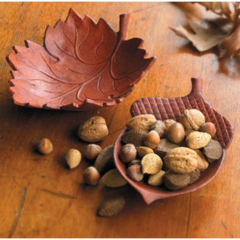 Maple Leaf & Acorn Dish