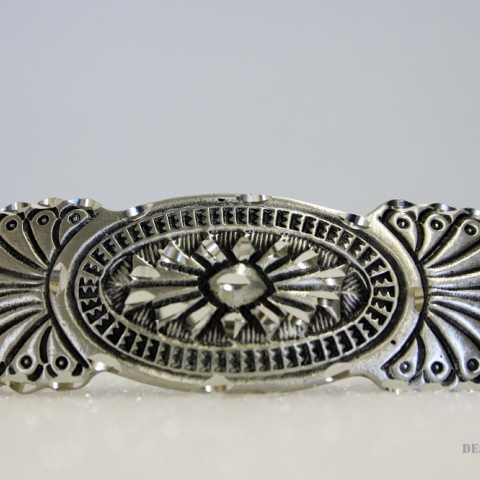 Pewter Center Rose Barrette