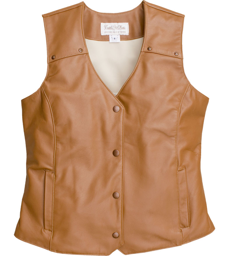 LADIES WESTERN LEATHER VEST