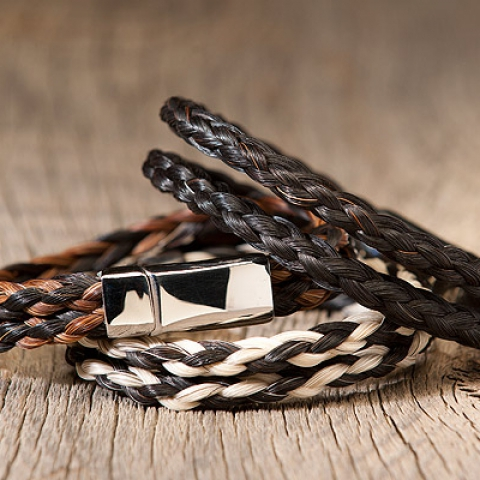Double Spiral Horsehair Bracelets