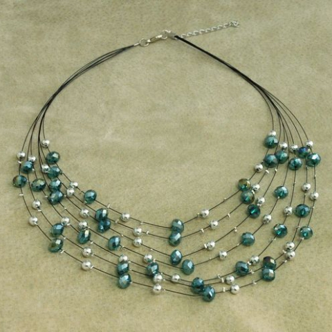Emerald Bling Multi-Strand