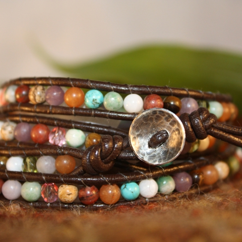 Bohemian Elegance Wrap Bracelet- Multi-Colored
