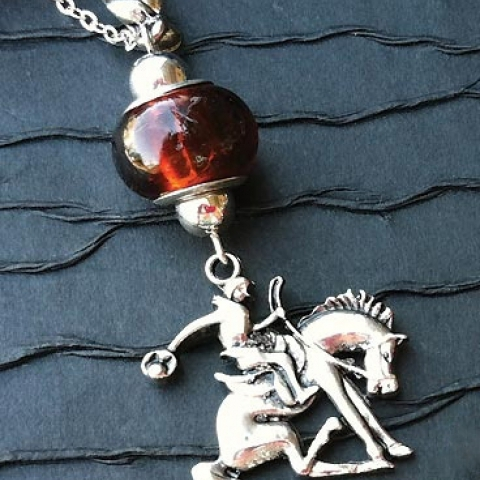 Bucking Bronco Necklace