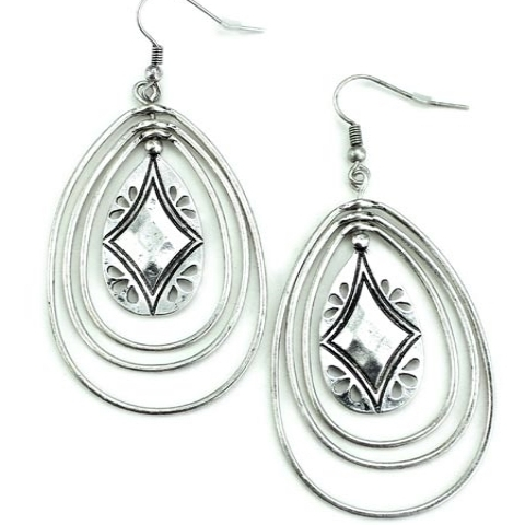 Southwest Hoop Earrings