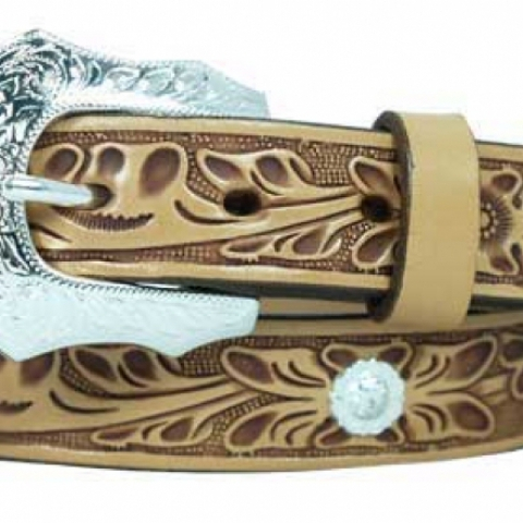 Ladies Embossed Belt USA