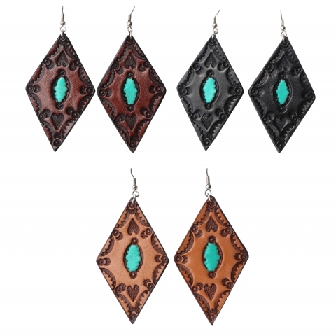 Leather Western Earrings