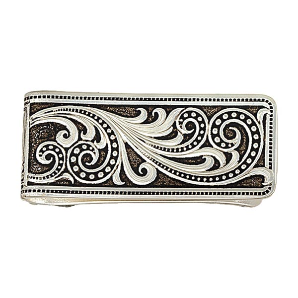 Western Scroll Money Clip