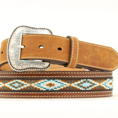 Men's Beaded Western Belt