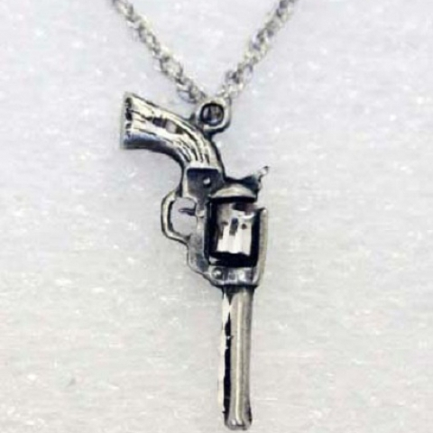 Pewter Gun Necklace