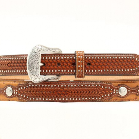 Men's Tan Ostrich Belt