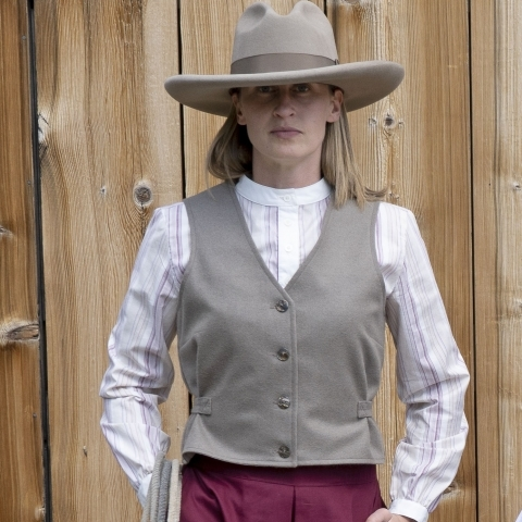 Ladies Wool Western Vest