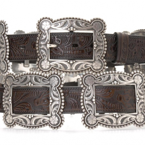 Rectangular Concho Belt
