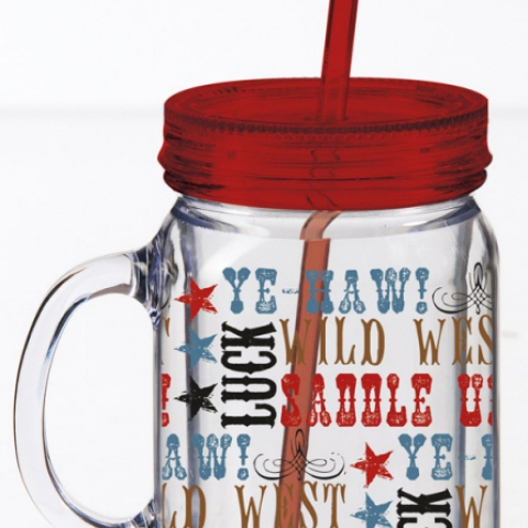 Saddle Up Insulated Mason Jar