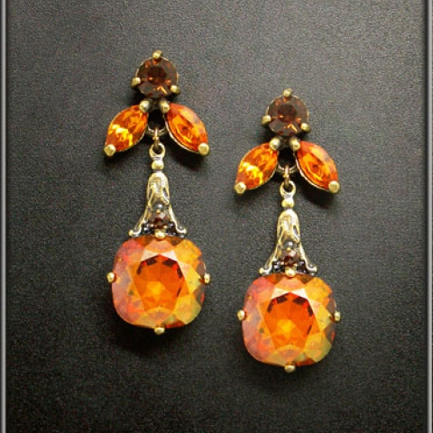 Smoked Topaz Earrings