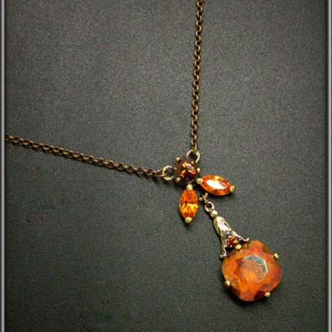 Smoked Topaz Necklace