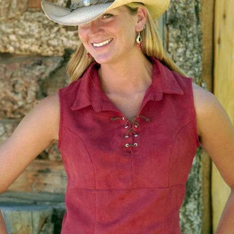 Tie'em Up Cowgirl Top