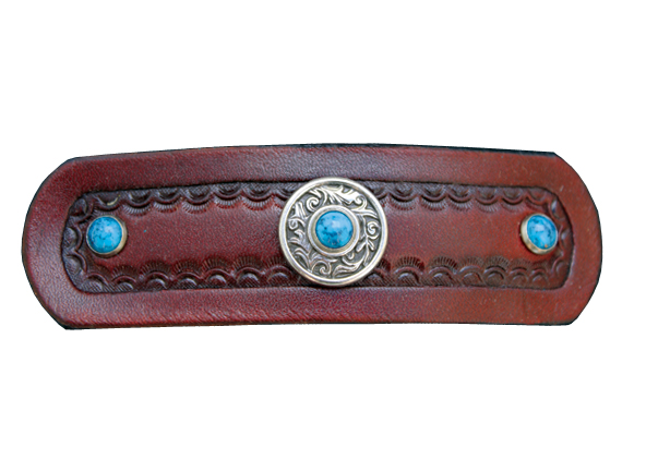 Western Leather Barrette