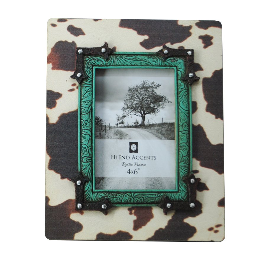 Western Cowhide Picture Frame