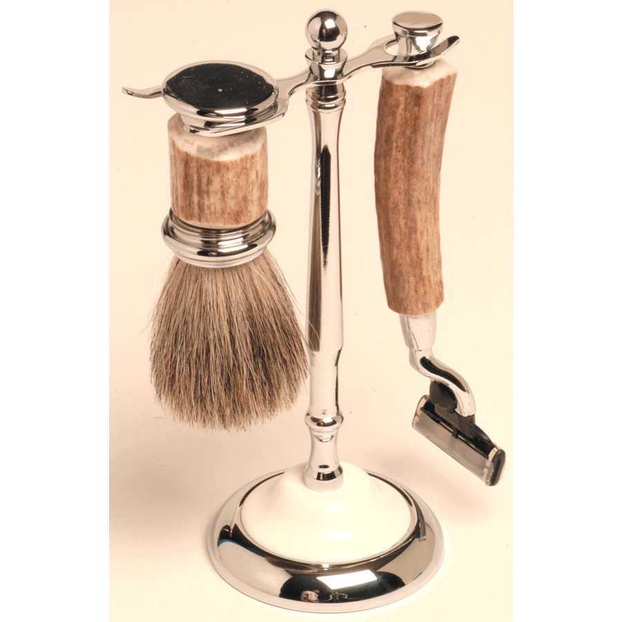 Antler Razor & Brush Set
