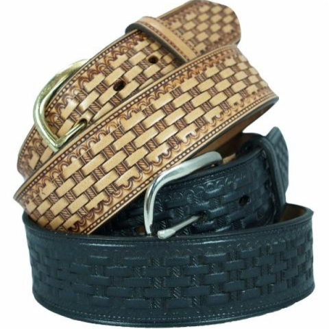 Basket Weave Leather Belts USA