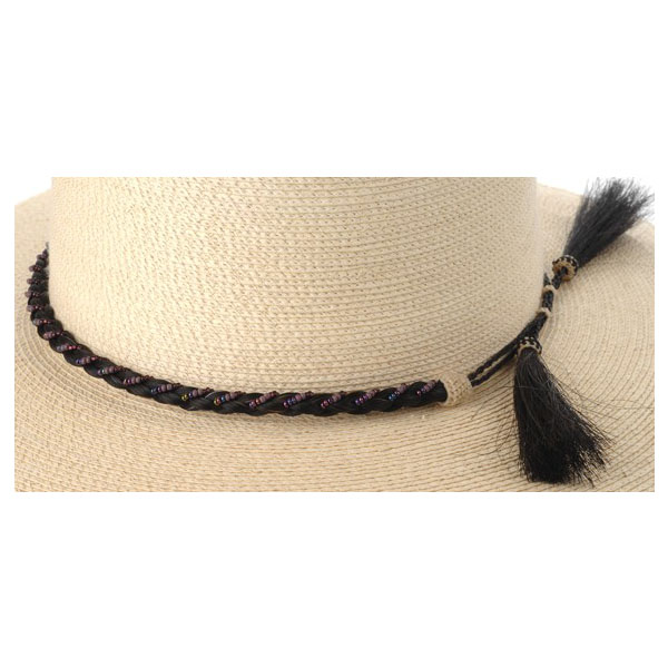 Beaded Horsehair Hatband