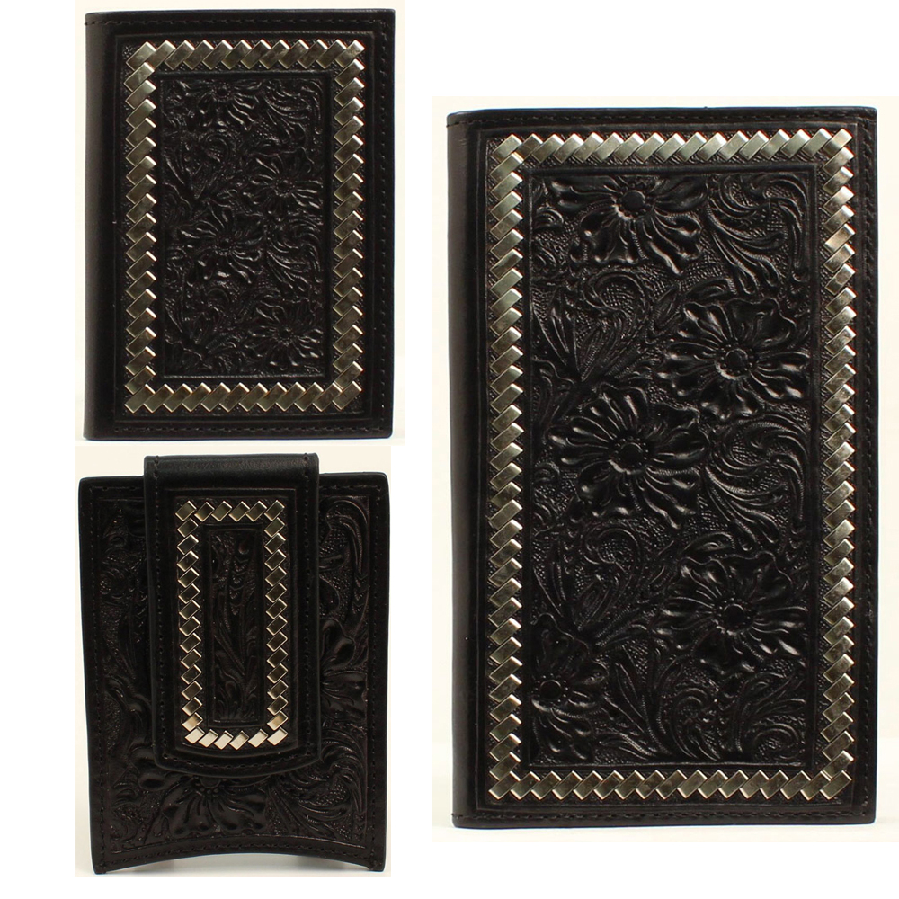 black tooled wallet
