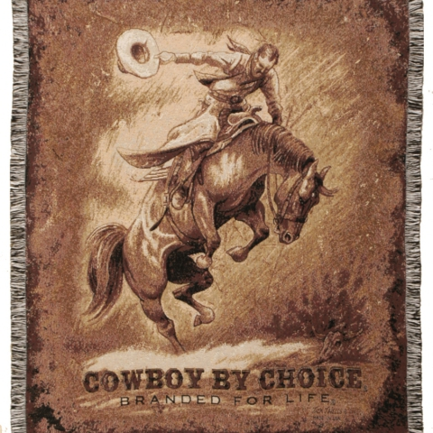 Tapestry Throw Bronc
