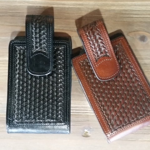 Western Leather Cell Case