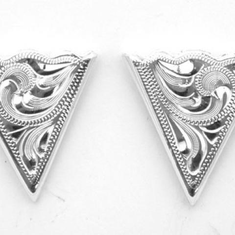 German Silver Collar Tips