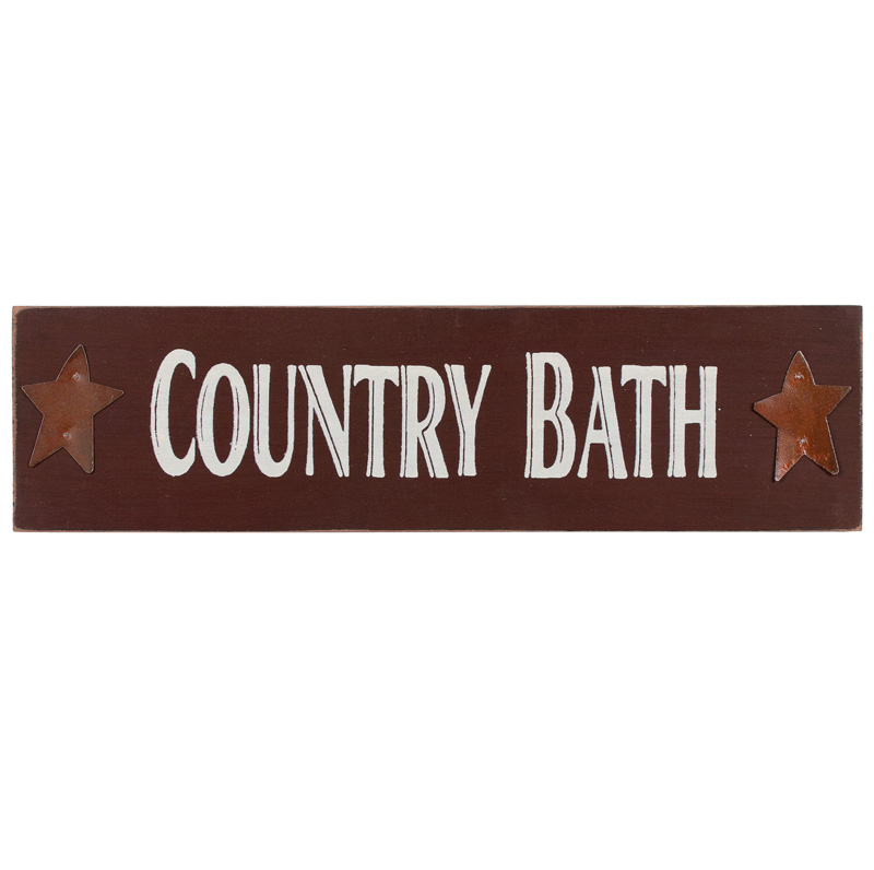 Country Bath Sign