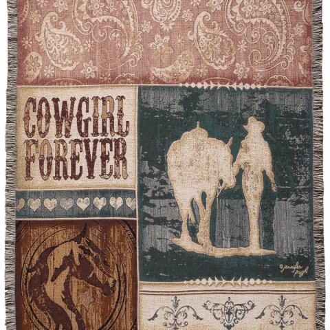 Tapestry Throw Cowgirl