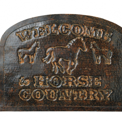Welcome to Horse Country Sign