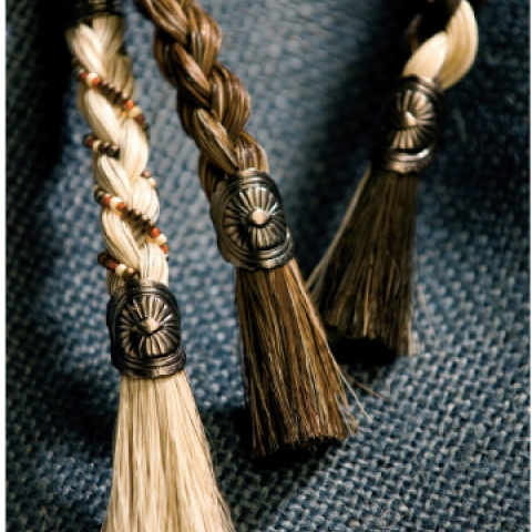 Horsehair Concho Keychains