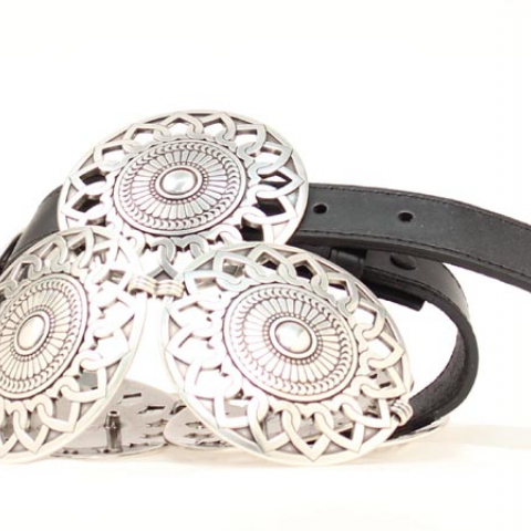 Large Round Concho Belt