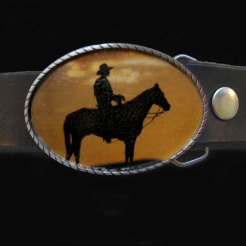 Old West Belt- Lone Cowboy