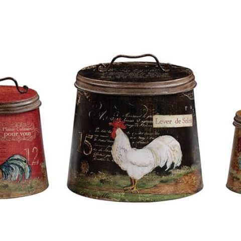 Vintage Rooster Containers