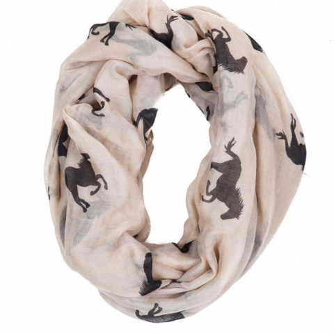 Running Horse Infinity Scarf