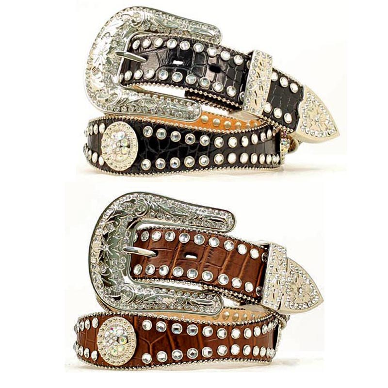 women's rhinestone belt