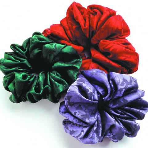 Silk Scrunchie- Jacquard Colors