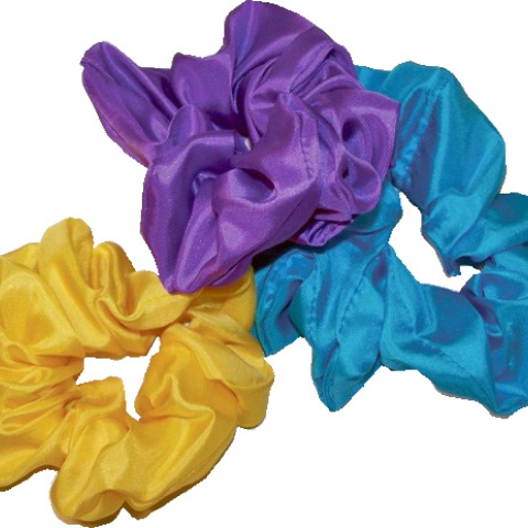 Silk Scrunchies- Solid Colors