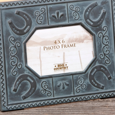 Horseshoe Tin Tile Frame