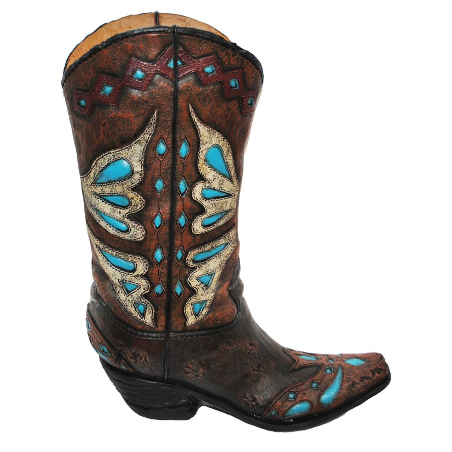 Classic western clothing cattle kate turquoise cowboy boot vase floridaeventfo Images