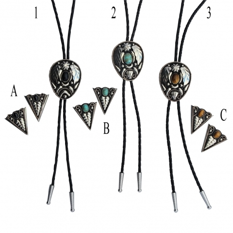 western bolo tie and collar tip