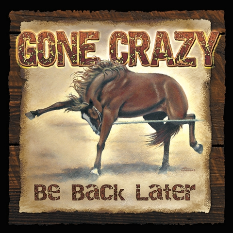 Gone Crazy..Be Back Later Sign