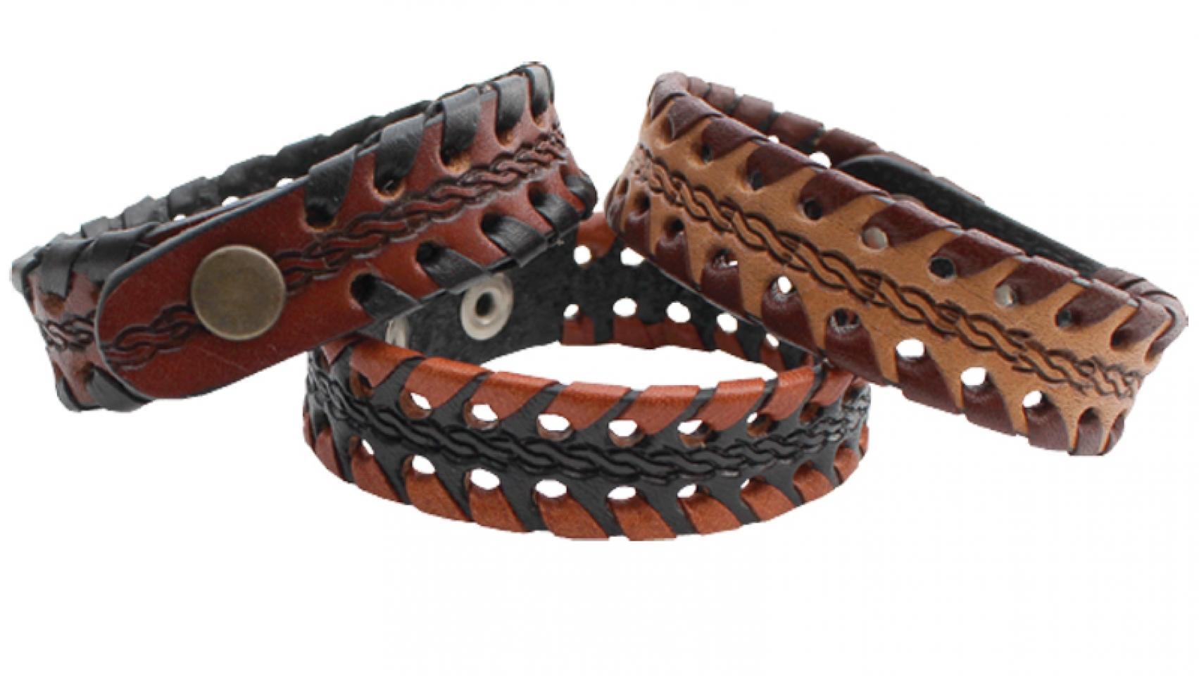 Men S Leather Bracelet Cattle Kate